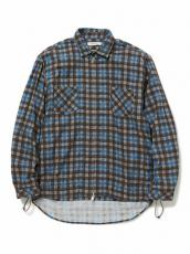 WORKER SHIRT JACKET COTTON TWILL PLAID PRINT