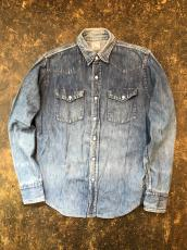 50-60'S Bar C by CARWOOD DENIM WESTERN SHIRT