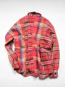 77ciaca×THE SHOEGAZER wide flannel shirt
