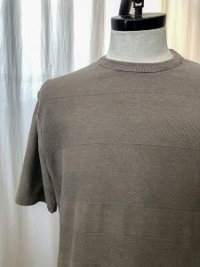 TROOPER S/S SWEATER COTTON SHADOW BORDER YARN VW