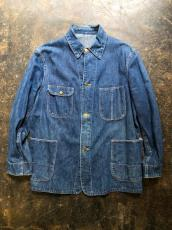 40-50'S UNKNOWN BRAND DENIM CHORE JACKET