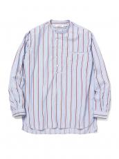 SCIENTIST PULLOVER SHIRT COTTON SATIN MULTI STRIPE