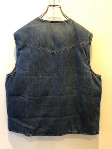 70-80'S EDDIE BAUER DENIM DOWN VEST